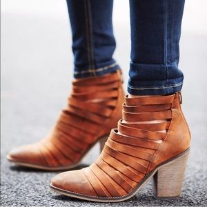FREE PEOPLE 'Hybrid' Strappy Boho Leather Bootie